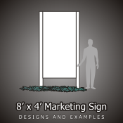 8ft x 4ft Marketing Signs