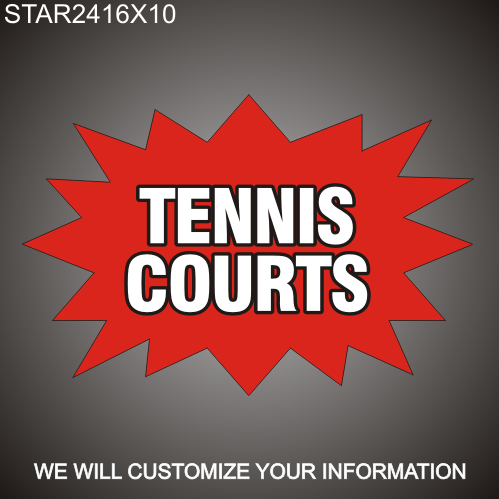 Tennis Court 16in x 24in