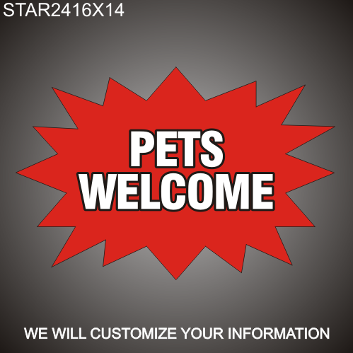 Pets Welcome 16in x 24in