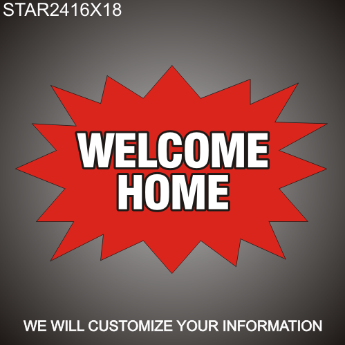 Welcome Home 16in x 24in