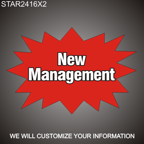 New Management 16in x 24in