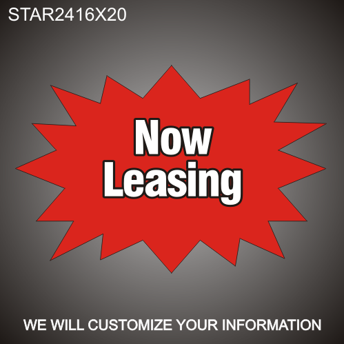 Now Leasing 16in x 24in