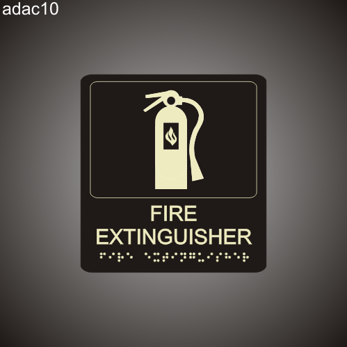 Fire Extinguisher 7in x 8in