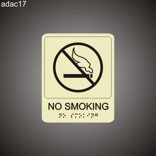 No Smoking 7in x 8in