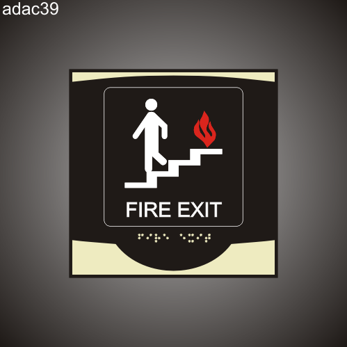 Fire Exit 9in x 9in