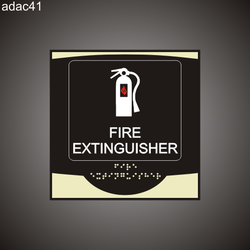 Fire Extinguisher 9in x 9in