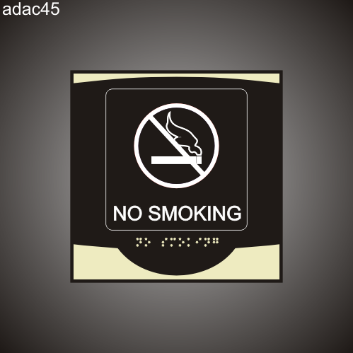 No Smoking 9in x 9in