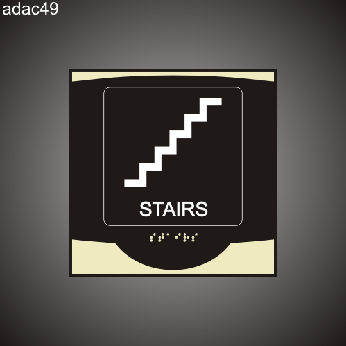 Stairs 9in x 9in