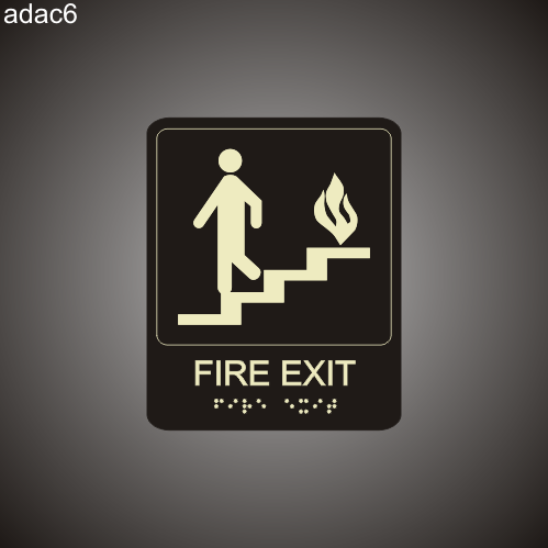Fire Exit 7in x 8in