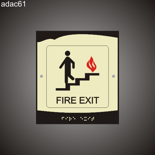 Fire Exit 8in x 9in