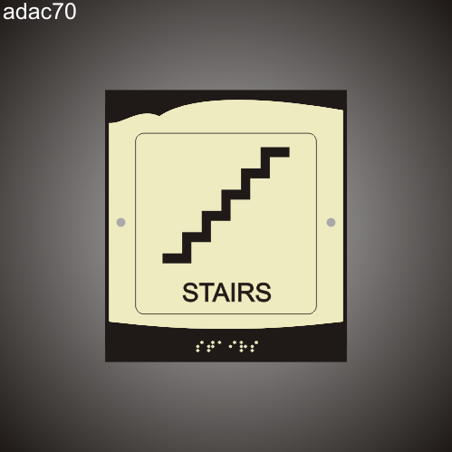 Stairs 8in x 9in