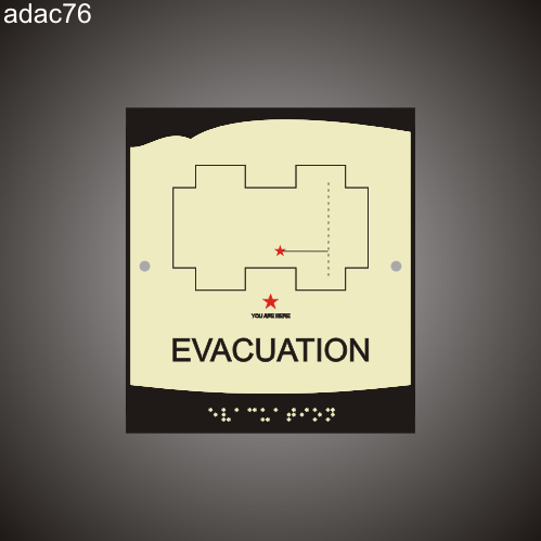 Evacuation Route 8in x 9in
