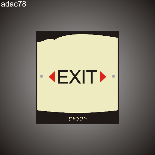 Exit 8in x 9in