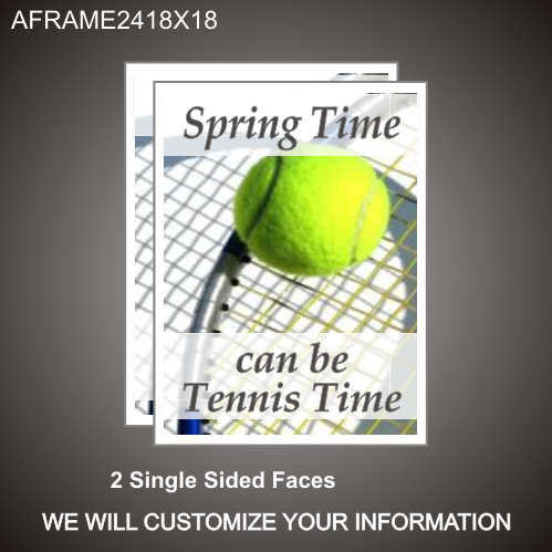 Tennis Time 24in x 18in