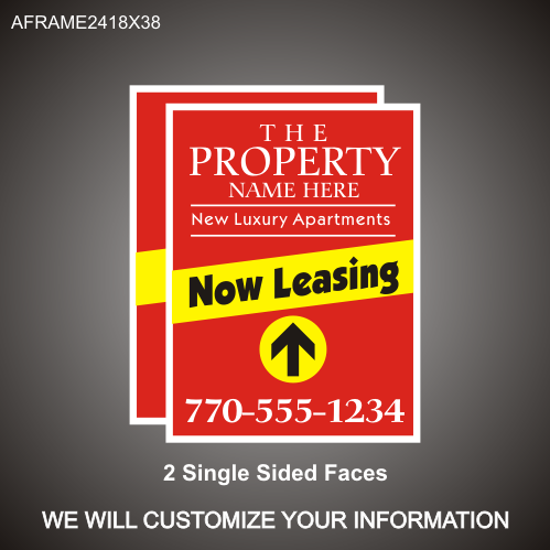 Now Leasing 24in x 18in