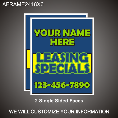 Leasing Specials 24in x 18in