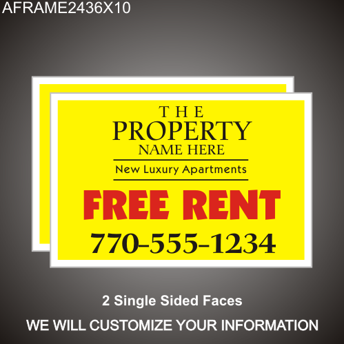 Free Rent 24in x 36in