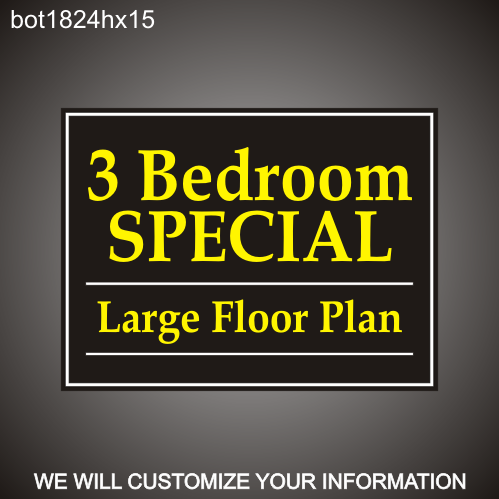 Leasing Specials 18in x 24in