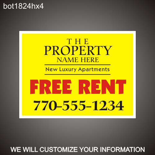 Free Rent 18in x 24in