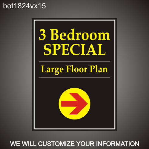Leasing Specials 24in x18in