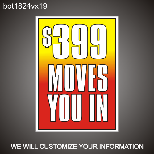 Move In Special 24in x18in