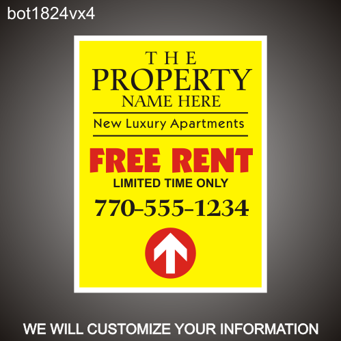 Free Rent 24in x 18in