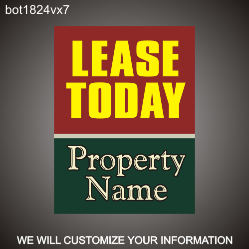 Lease Today 24in x 18in