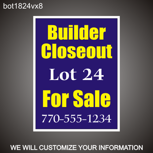 Builder Closeout 24in x 18in