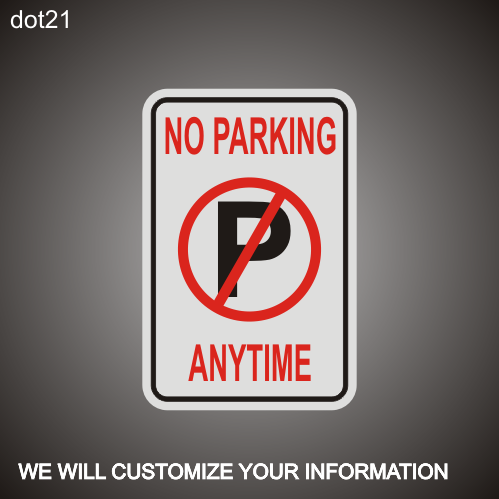 No Parking RA 12in x 18in