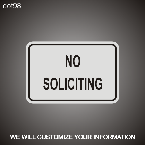 No Solicit RA 12in x 18in