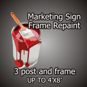 Repaint 3 Post and Frame
