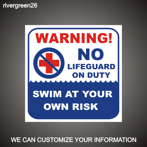 Pool Warning 18in x 18in