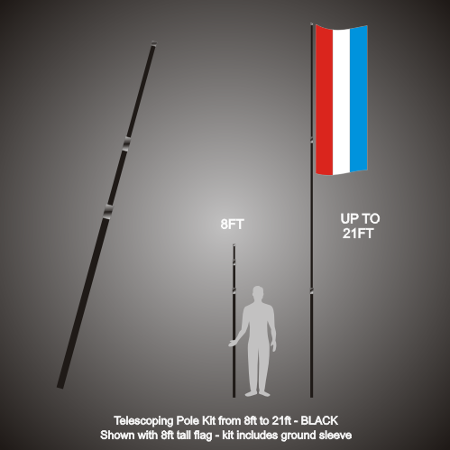 Flag Pole Telescoping 21ft