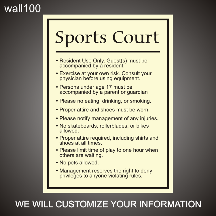 Sports Court 24in x 36in