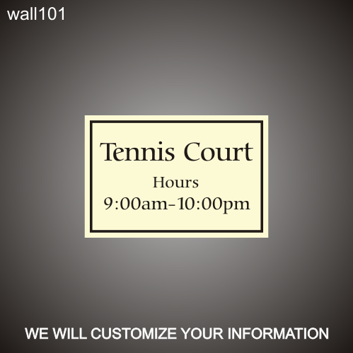 Tennis Court 12in x 18in