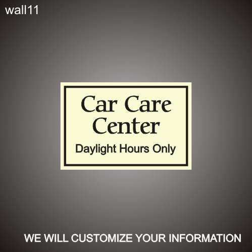 Car Care Hours 12in x 18in