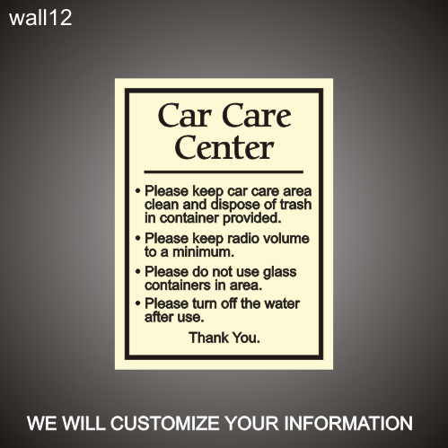 Car Care Rules 18in x 24in