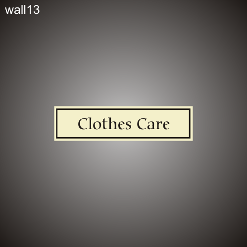 Clothes Care 3in x 12in