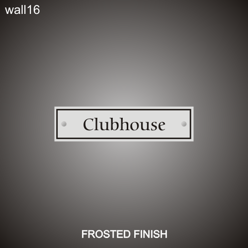 Clubhouse 3in x 12in