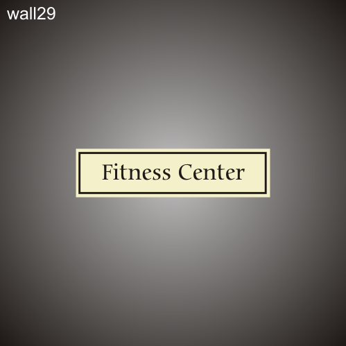 Fitness Center 3in x 12in