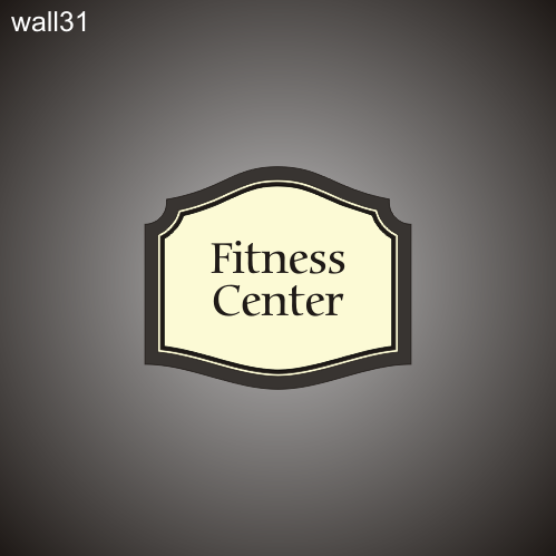 Fitness Center ID 16in x 19in
