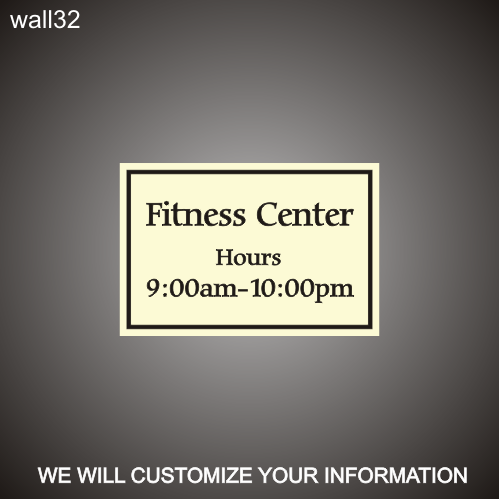Fitness ID/Hours 12in x 18in