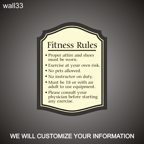 Fitness Rules 18in x 24in