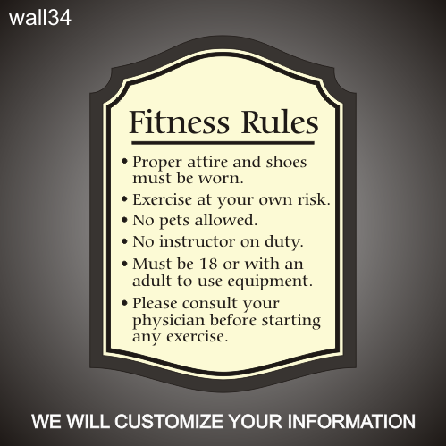 Fitness Rules 24in x 36in