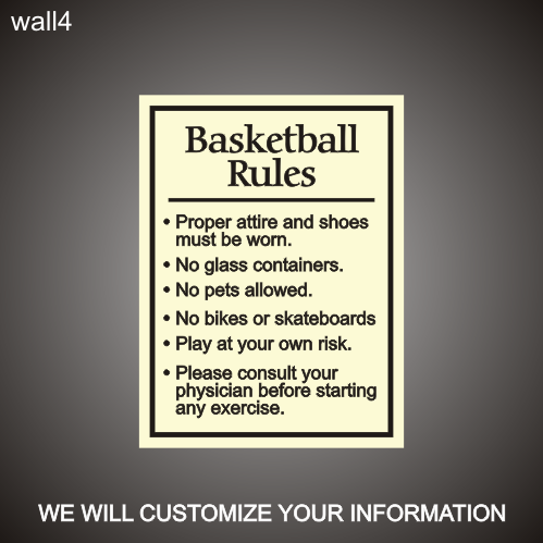 Basketball Rules 18in x 24in