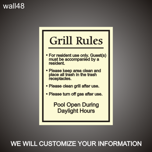 Grill Area Rules 18in x 24in
