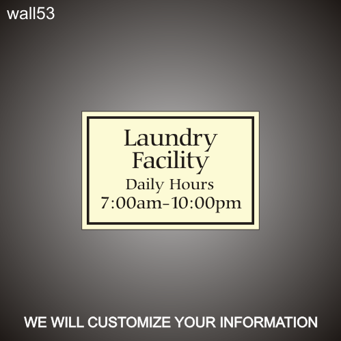 Laundry ID/Hours 12in x 18in