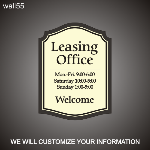 Leasing Hours 18in x 24in