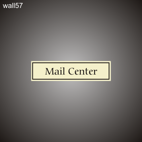 Mail Center 3in x 12in