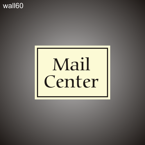 Mail Center ID 12in x 18in
